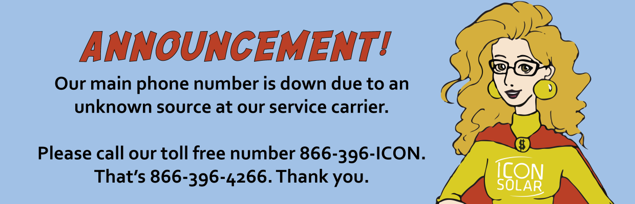 Our main phone line is not working properly. Please call our toll-free number 866-396-4266.