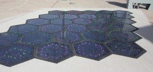 Solar Roadways' walkway, Source: Motor Authorirty