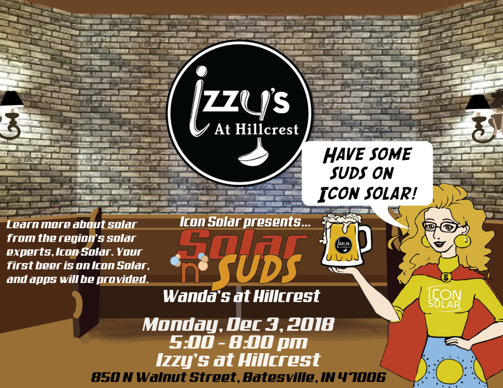 Solar 'n' Suds at Izzy's at Hillcrest, Dec 3, 2018, 5-8 pm